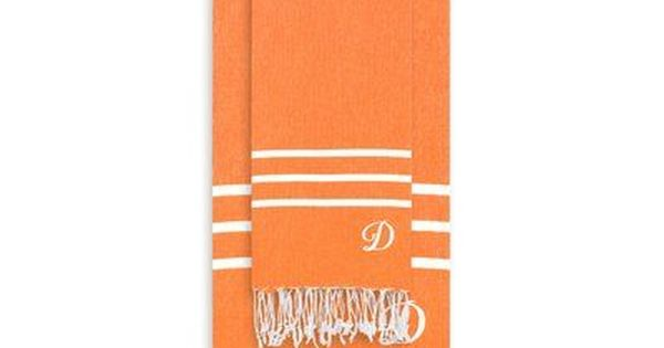 Highland Dunes Polizzi Turkish Pestemal 2 Piece Turkish Cotton Towel Set Letter K Color Dark Orange Products Towel Set Turkish Cotton Towels Towel