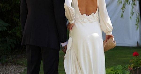Long sleeved, scoop back Wedding Dress … Wedding ideas for brides, grooms,