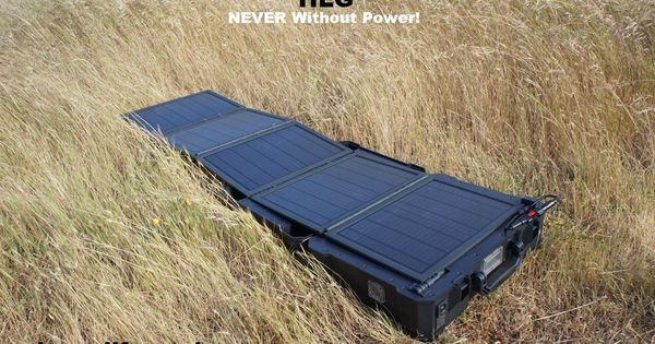 350w Portable All In One Ac Dc Solar Field Generator Providing 40 Continuous Hours Of Portable Power Per Charge Portable Solar Power Solar Panels Solar