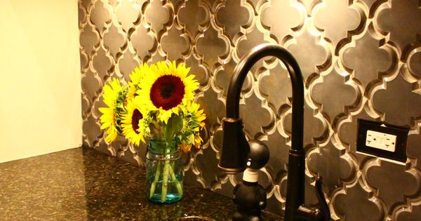 backsplash tile - arabesque, handmade gorgeous. We love he color too! tilesensations