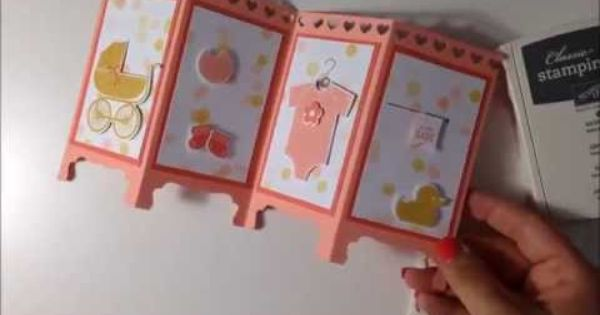 Stampin 39 up silk screen room divider baby card su cards for Stampin pretty craft room