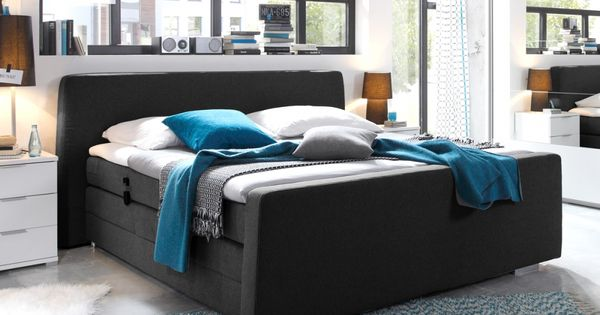 honesto boxspringbett 180x200 mit motor schwarz schlafzimmer pinterest. Black Bedroom Furniture Sets. Home Design Ideas