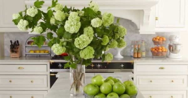 All white Kitchen Love The Detail In Island