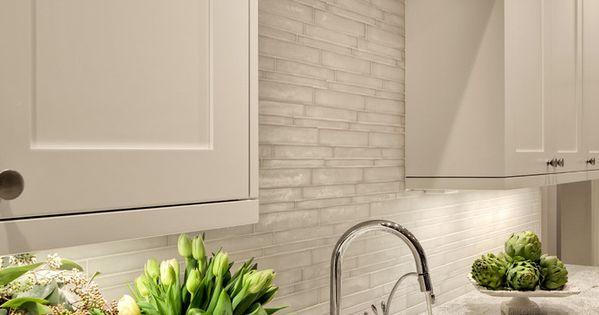 Backsplash Tile Vetro By Casa Dolce Casa In Matte Bianco