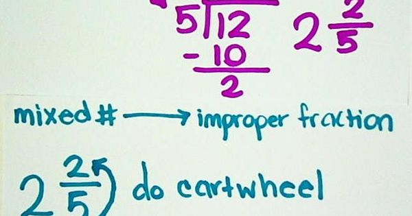 "Fractions 4th grade: ""do back-flip"" ""do cartwheel"" How to help students remember"