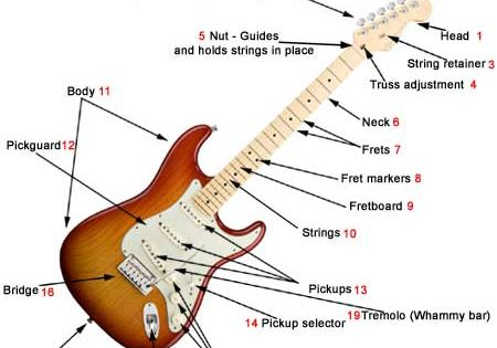 Parts of an electric guitar - What makes a electric guitar unique ...