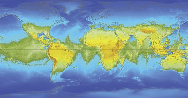 """Many factors contribute to the global distribution of Earth's oceans, but the"