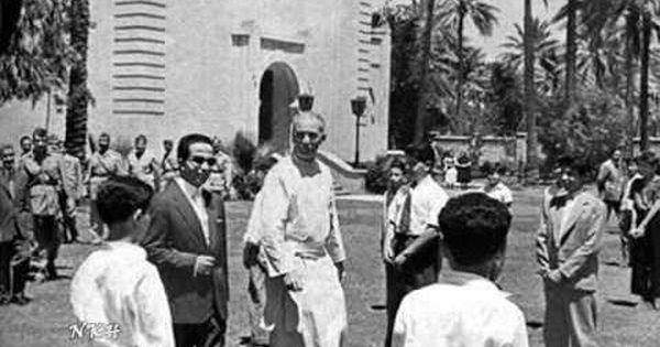زيارة الملك فيصل الثاني لثانوي ة كلية بغداد اليس وعية 1958 Baghdad Political History Historical Pictures