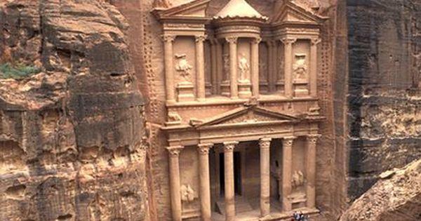 Petra, Jordan on the slope of Mt Hor... famous rock cut architecture