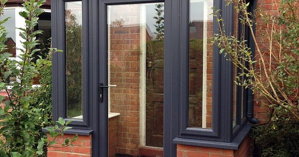 Grey on white upvc porch classical design house projects for Grey upvc porch