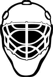 Ice Hockey Goalie Mask Silhouette Hockey Mask Hockey Goalie Hockey Tournaments
