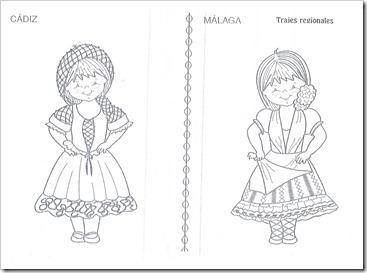 Trajes Regionales De Andalucia Para Colorear Paperblog Traje Regional Colores Regional