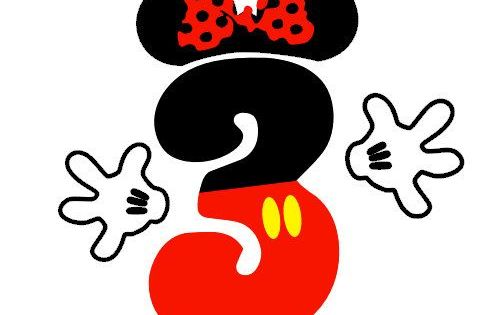 mickey mouse or minnie mouse number deko pinterest. Black Bedroom Furniture Sets. Home Design Ideas