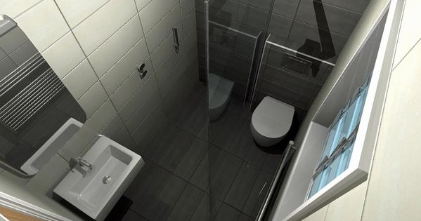 A concept for a small wetroom with space saving toilet and - Bathrooms for small spaces concept ...