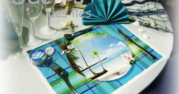pour un mariage antillais avec une d co set madras bleu turquoise mariage antillais ou sur le. Black Bedroom Furniture Sets. Home Design Ideas