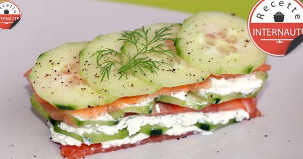 Mille feuilles de concombre et saumon recipe cuisine - Feuille de cuisine ...