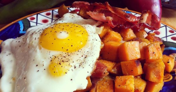 Sweet Potato Hash with Bacon & Eggs / Bohemiancottage.com | Breakfast ...