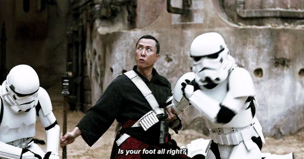 Chirrut Imwe Vs Stormtroopers Is Your Foot Alright Stormtrooper Rogues War Stories
