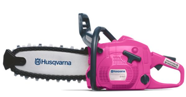 Limited Edition Husqvarna Toy Pink Chainsaw Modeled After