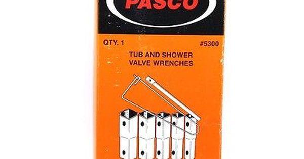 Pasco 5300 5 Piece Tub And Shower Valve Sv Socket Wrench Set Socket Wrench Set Shower Valve Socket Wrenches