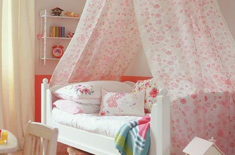 Cuarto infantil para ni a cama con dosel decoraci n - Dosel cama nina ...