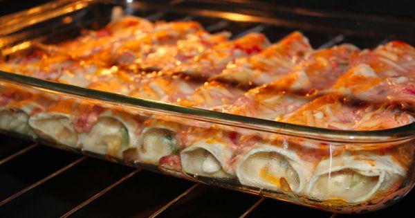 Skinny Enchiladas! Only 150 calories! Weight Watchers PointsPlus: 4 - Sounds pretty
