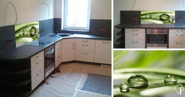 Digital bedruckte Küchenrückwand / Glas Spritzschutz ... | {Nischenverkleidung küche 20}