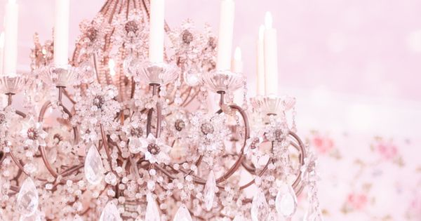 Because every little girl's room needs a fancy chandelier.