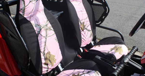 Polaris Side By Side Atv >> Details about Polaris RZR UTV Seat Covers Set of 2 Realtree AP Camo Pink & Black Custom Made ...