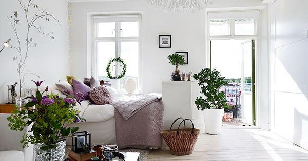 Decoraci n escandinavo rom ntico malva decorar tu casa for Decoracion pisos romanticos