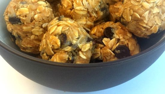 Skipper will LOVE these! Peanut Butter Oatmeal Balls - 1 cup oatmeal,
