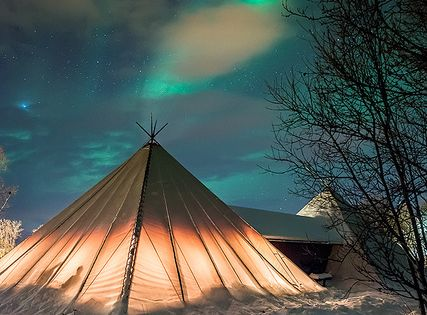 Camping under the northern lights, Troms County / Norway (by... - Its