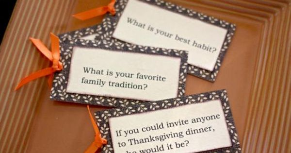 Thanksgiving Table Game Idea But You Could Totally Change