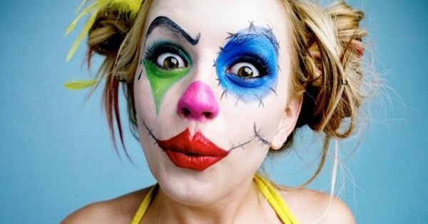cool halloween makeup clown makeup for women diy halloween costume ideas halloween pinterest. Black Bedroom Furniture Sets. Home Design Ideas