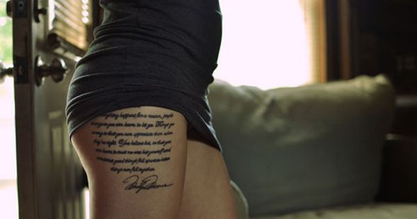 tattoo quotes, thigh tattoos and people change. tattoo tattoos ink