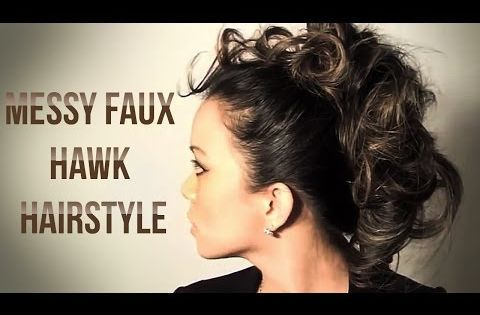 Messy Faux Hawk Hairstyle Tutorial - YouTube | Hair ...