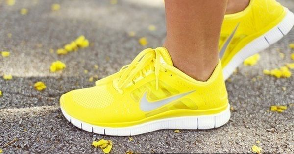 Neon yellow nike shoes