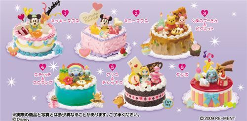 Re-ment Rilakkuma Bear Mini Happy Birthday Cake 04