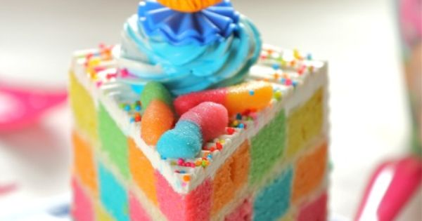 Checkered Cake Recipe How very interesting! Although I could do without the