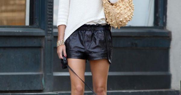 Olivia Palermo Style - Black White womenswear oliviapalermo summer style celebrity