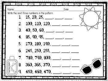 Sizzling Skip Counting Freebie Number Patterns Worksheets 2nd Grade Math Worksheets Math Patterns