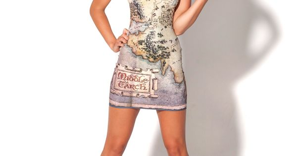 The Hobbit Middle Earth Map Dress Black Milk - I WANT IT