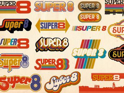 Super 8 Retro Logo Design Retro Typography Retro Logos