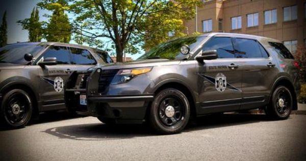 Washington Stae Patrol Ford Police Interceptor Utility Suvs
