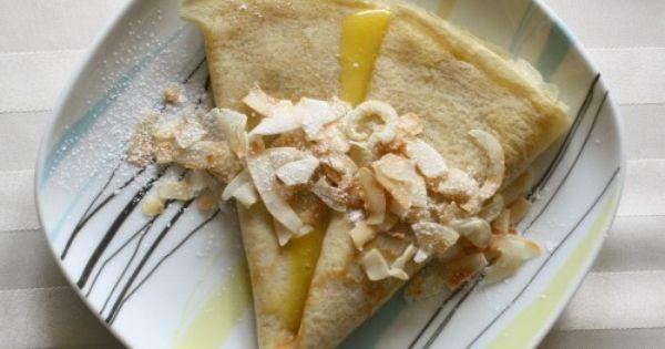 Meyer Lemon & Coconut Crêpes | Breakfast Goodies | Pinterest | Lemon ...