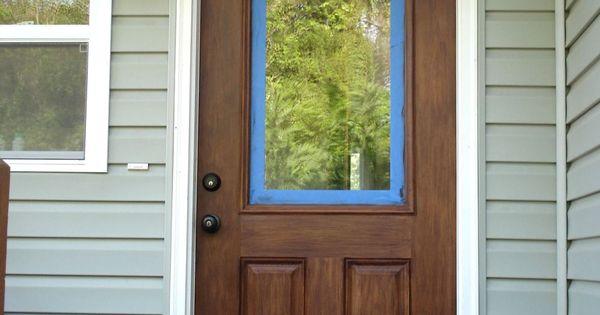 Fiberglass Doors That Look Like Wood : Staining a fiberglass door to look like wood projects