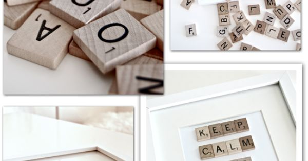 Make your own Scrabble Picture - a great gift idea!