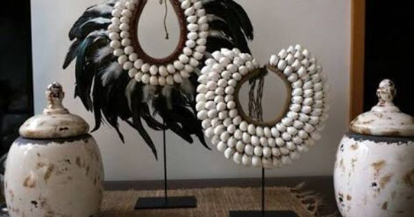 Tribal Shell Necklaces African Inspired Decor Tribal Decor Decor
