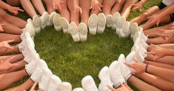 You need special shoes for cheerleading - and a bit of a