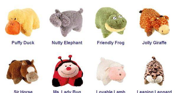 Pillow Pets & Names Pillow Pet Party Pinterest Pillow pets, Pillows and Plushies